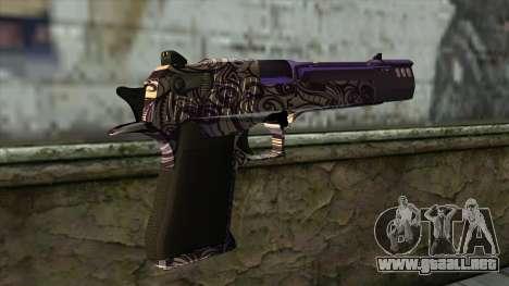 PurpleX Desert Eagle para GTA San Andreas segunda pantalla