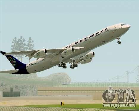 Airbus A340-313 Olympic Airlines para las ruedas de GTA San Andreas