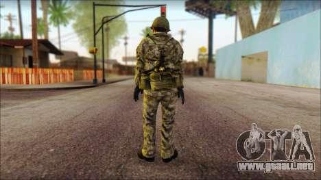 Corea del Norte soldado (Guerrero) para GTA San Andreas segunda pantalla