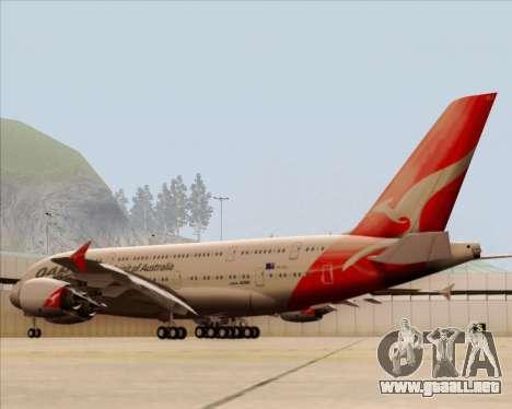 Airbus A380-841 Qantas para la visión correcta GTA San Andreas