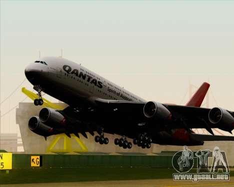 Airbus A380-841 Qantas para visión interna GTA San Andreas