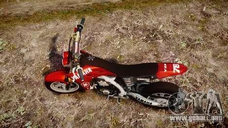 Yamaha YZF-450 SuperMoto Custom para GTA 4 visión correcta