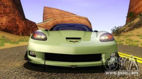Chevrolet Corvette Z06 2006 Drift Version para la visión correcta GTA San Andreas