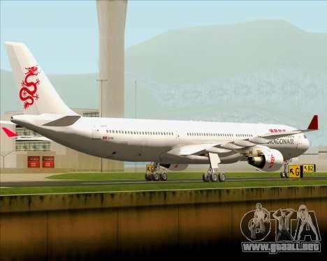 Airbus A330-300 Dragonair para la visión correcta GTA San Andreas