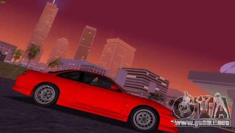 Nissan Silvia S14 RB26DETT Black Revel para GTA Vice City vista posterior