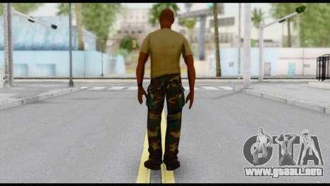 Army Vic para GTA San Andreas segunda pantalla