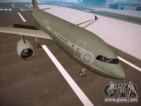 Canadian Forces Airbus CC150 Polaris para GTA San Andreas left