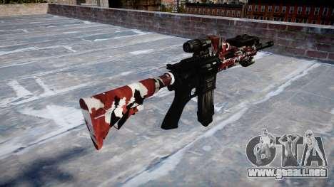 Automatic rifle Colt M4A1 son inyectados de sang para GTA 4 segundos de pantalla