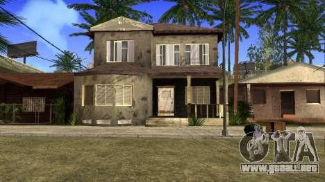 Nuevas texturas en HD casas en grove street v2 para GTA San Andreas novena de pantalla