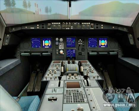 Airbus A340-313 LAN Airlines para vista inferior GTA San Andreas