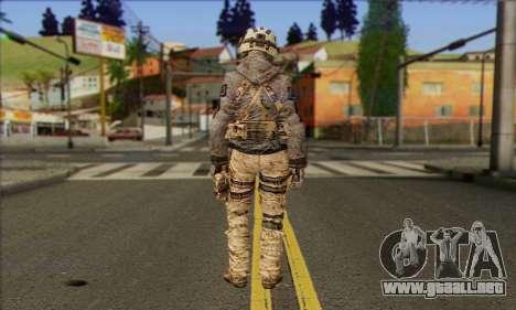Task Force 141 (CoD: MW 2) Skin 13 para GTA San Andreas segunda pantalla