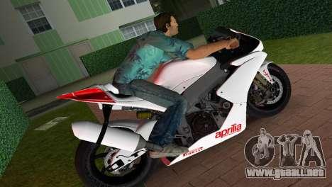 Aprilia RSV4 2009 White Edition I para GTA Vice City left