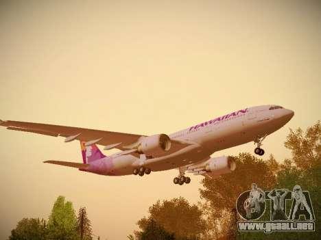 Airbus A330-200 Hawaiian Airlines para la visión correcta GTA San Andreas