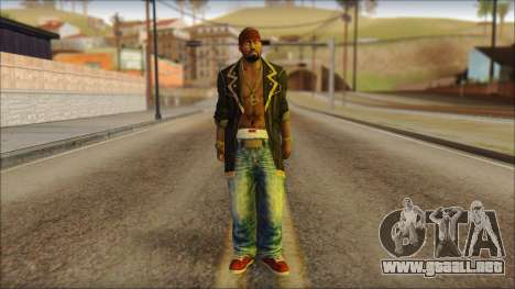 New Grove Street Family Skin v1 para GTA San Andreas