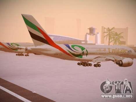 Airbus A380-800 Emirates Rugby World Cup para la visión correcta GTA San Andreas