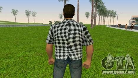 Kockas polo - fekete T-Shirt para GTA Vice City sucesivamente de pantalla