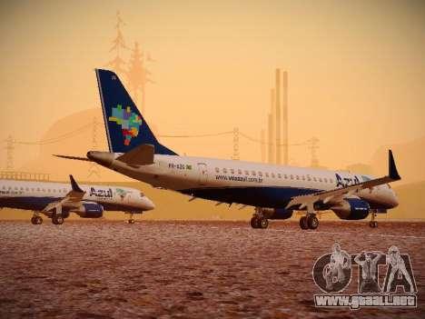 Embraer E190 Azul Brazilian Airlines para GTA San Andreas vista hacia atrás