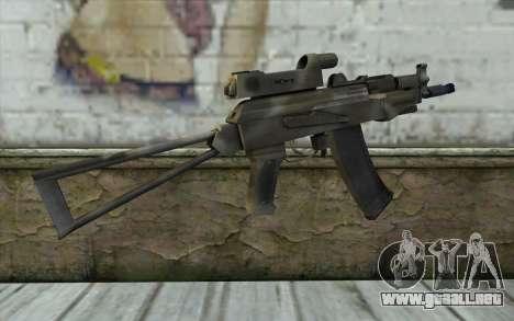 AK74U from Battlefield 2 para GTA San Andreas segunda pantalla