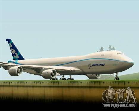 Boeing 747-8 Cargo House Livery para visión interna GTA San Andreas