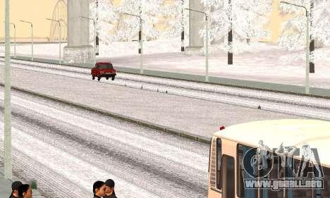 Nieve para GTA Penal de Rusia beta 2 para GTA San Andreas segunda pantalla