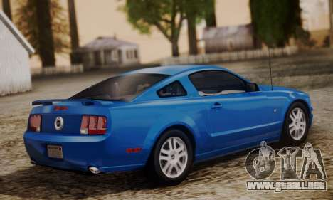 Ford Mustang GT 2005 v2.0 para GTA San Andreas left