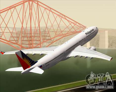 Airbus A330-300 Philippine Airlines para las ruedas de GTA San Andreas