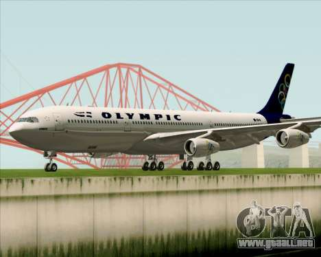 Airbus A340-313 Olympic Airlines para GTA San Andreas left