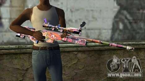 Graffiti Sniper Rifle para GTA San Andreas tercera pantalla