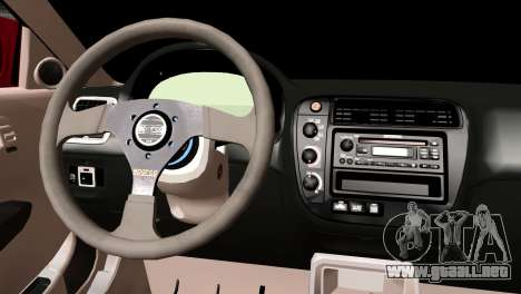 Honda Civic SI Coupe para GTA San Andreas vista posterior izquierda