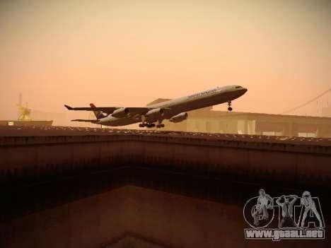 Airbus A340-600 South African Airways para la visión correcta GTA San Andreas