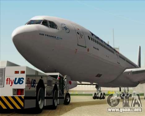 Airbus A340-313 Air France (New Livery) para vista lateral GTA San Andreas