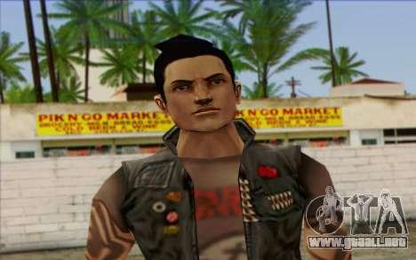 Claude in Pank Style para GTA San Andreas tercera pantalla