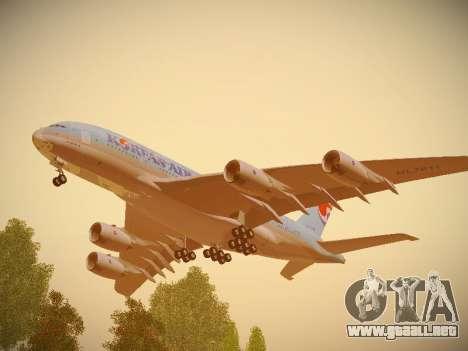 Airbus A380-800 Korean Air para visión interna GTA San Andreas