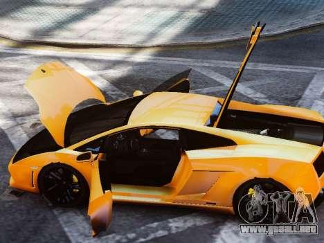 Lamborghini Gallardo LP560-4 para GTA 4 vista hacia atrás