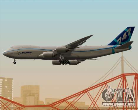 Boeing 747-8 Cargo House Livery para vista inferior GTA San Andreas