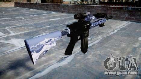 Automatic rifle Colt M4A1 azul tigre para GTA 4 segundos de pantalla