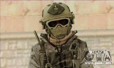 Task Force 141 (CoD: MW 2) Skin 1 para GTA San Andreas tercera pantalla