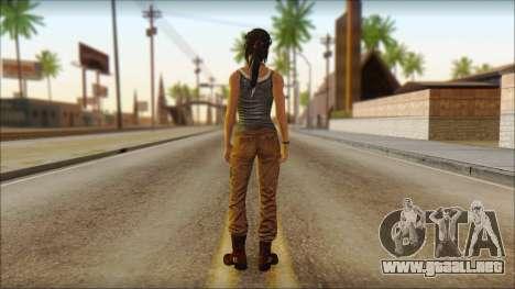Tomb Raider Skin 11 2013 para GTA San Andreas segunda pantalla