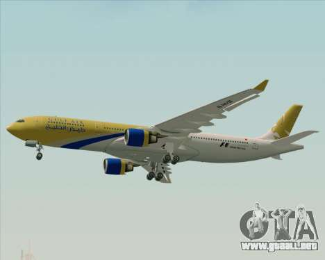 Airbus A330-300 Gulf Air para la vista superior GTA San Andreas
