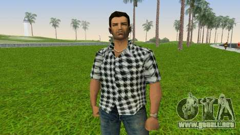 Kockas polo - fekete T-Shirt para GTA Vice City tercera pantalla