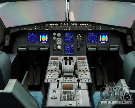 Airbus A340-313 Olympic Airlines para GTA San Andreas interior