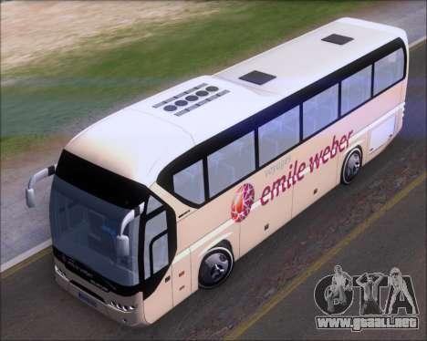 Neoplan Tourliner Emile Weber para GTA San Andreas vista hacia atrás