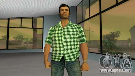 Kockas polo - zold T-Shirt para GTA Vice City