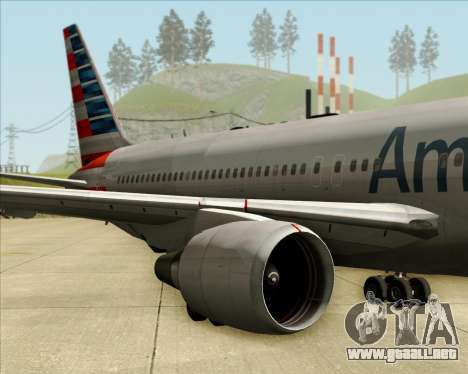 Boeing 767-323ER American Airlines para visión interna GTA San Andreas