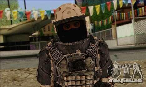 Task Force 141 (CoD: MW 2) Skin 15 para GTA San Andreas tercera pantalla