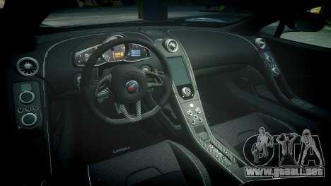 McLaren 650S Spider 2014 [EPM] Bridgestone v3 para GTA 4 vista interior