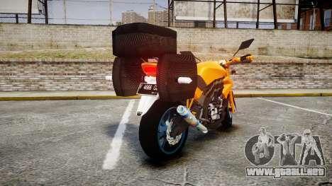 Yamaha V-ixion 150cc para GTA 4 Vista posterior izquierda