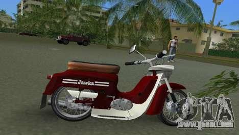 Jawa Type 20 Moped para GTA Vice City vista lateral izquierdo