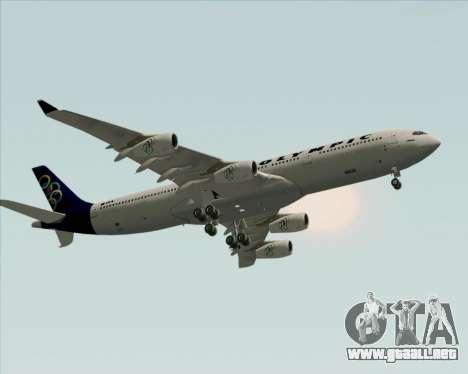 Airbus A340-313 Olympic Airlines para visión interna GTA San Andreas