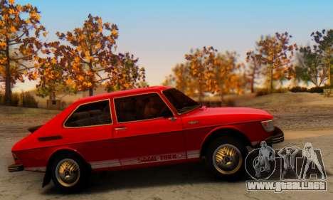 Saab 99 Turbo 1978 para GTA San Andreas vista hacia atrás